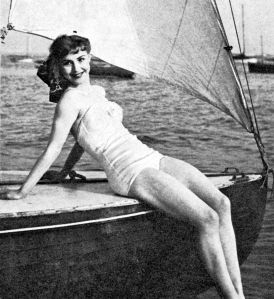 Anne modelling after the war.